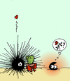 Cartoon: The valentine mussel (small) by Pierre tagged muschel,miesmuschel,seeigel,valentinstag,liebe,kaktus,rose,watt