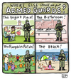 Cartoon: So Many Options (small) by a zillion dollars comics tagged politics,guns,usa