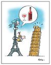 Cartoon: wine (small) by Riko cartoons tagged riko italy france cartoon wine