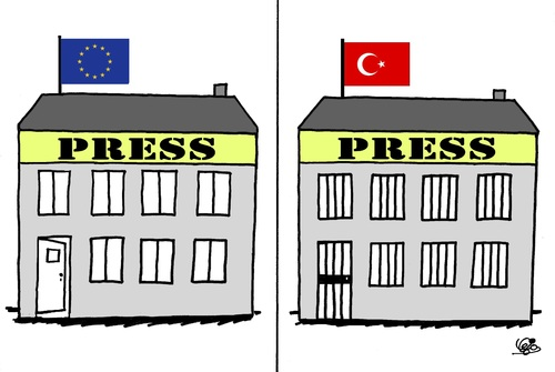Cartoon: FREEDOM OF PRESS... (medium) by Vejo tagged freedom,of,press,human,rights,dictatorship