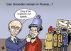 Cartoon: Asylum Snowden... (small) by Vejo tagged snowden,russia,campanologist,asylum