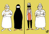Cartoon: Different culture... (small) by Vejo tagged culture,boerka,dominant,man,wife