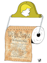 Cartoon: Trump and the Constitution (small) by Vejo tagged trump,constitution,dangerous,narcissism