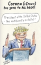 Cartoon: Absolute President (small) by Alan tagged absolute,president,trump,corona,coronavirus,crown,covid19