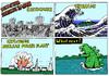 Cartoon: DISASTER STRIKES JAPAN (small) by Alan tagged disaster japan tsunami wave welle kanagawa godzilla earthquake fukushima explosion nuclear power katastrophe