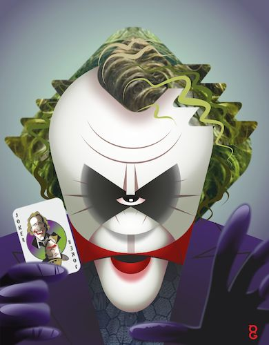 Cartoon: Heath Ledger Joker (medium) by spot_on_george tagged joker,caricature,heath,ledger,vector,batman