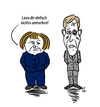 Cartoon: Fels in der Spree (small) by elke lichtmann tagged merkel,wulff
