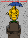 Cartoon: sommergrüße (small) by elke lichtmann tagged sommer,regen,goldelse,siegessäule,berlin,grau,wolke,kalt