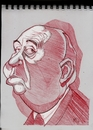 Cartoon: Alfred Hitchcock (small) by McDermott tagged hitchcock movies actors directors mcdermott caricatures sketchbook
