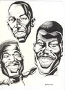 Cartoon: Basketball Players (small) by McDermott tagged basketball,players,sports,proball,inkwork