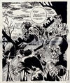 Cartoon: Monster from the graves (small) by McDermott tagged inkdrawing,illustration,monsters,graveyard,blackandwhite,ec,comics,horror