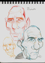 Cartoon: SketchBook Pete Postlethwaite (small) by McDermott tagged book,petepostlethwaite,movies,film,actors,drama,dead,mcdermott