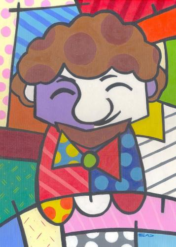 Cartoon: Romero Britto (medium) by manohead tagged caricatura,caricature,manohead