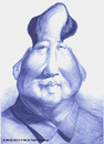 Cartoon: Mao Tse Tung (small) by manohead tagged caricatura,caricature,manohead