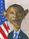 Cartoon: Obama (small) by manohead tagged caricatura,caricature,manohead,barack,obama