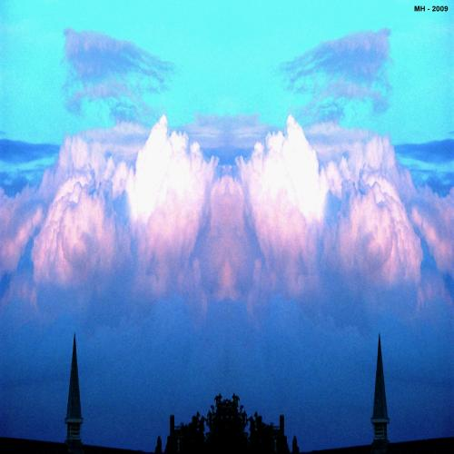 Cartoon: MH - Two Towers (medium) by MoArt Rotterdam tagged photoshop,twotowers,clouds,cloudplay,church