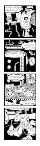 Cartoon: Ypidemi Therapy (medium) by bob schroeder tagged therapeutic,robot,seal,help,social,cute,improvement,comics,ypidemi