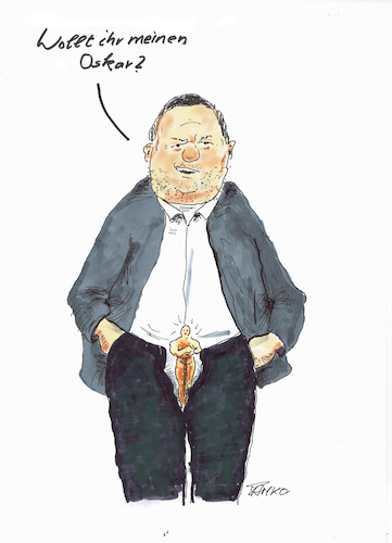 Cartoon: Harvey Weinstein (medium) by Skowronek tagged hollywood,stars,film,kino,oskar,harvey,weinstein,produzent,sexismus,machtmissbrauch