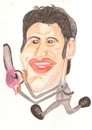 Cartoon: Quentin Tarantino (small) by paintcolor tagged caricature,man,chainsaw