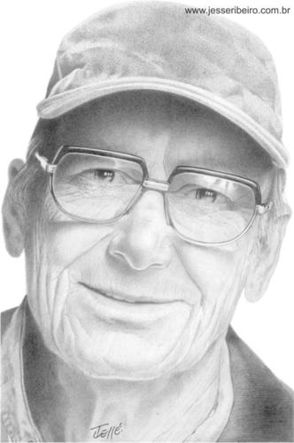 Cartoon: OldMan (medium) by Jesse Ribeiro tagged man,illustration,pencil,portrait,people