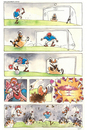 Cartoon: Futebol (small) by Jesse Ribeiro tagged war,terrorists,usa,taliban,soccer,rugbi,game,peace