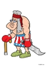 Cartoon: stallone Wird 70 (small) by Christoon tagged stallone,rocky,rambo