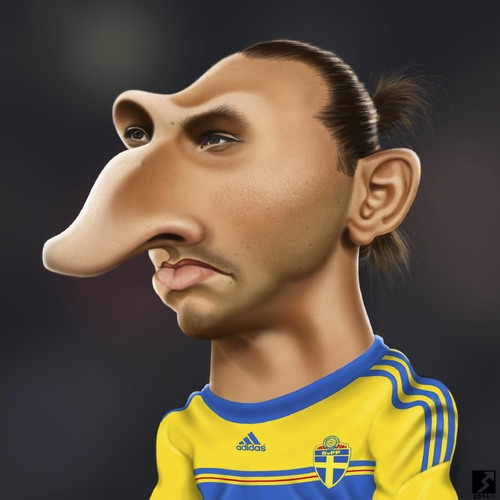 Cartoon: Zlatan Ibrahimovic (medium) by saman torabi tagged zlatan,ibrahimovic