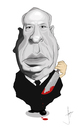 Cartoon: Alfred Hitchcock (small) by Paulista tagged caricature,alfred,hitchcock