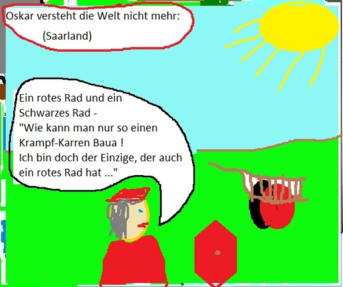 Cartoon: Krampf - Karren im  Saarland (medium) by Ernst Alter tagged oskar,lafontaine,saarland,wahl,koalition,cdu,spd