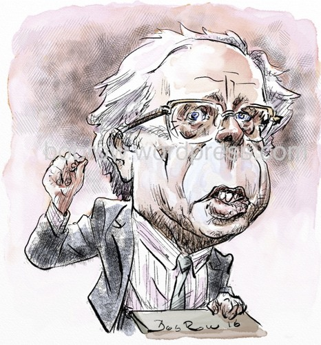 Cartoon: Bernie Sanders (medium) by Bob Row tagged sanders,bernie,politics,usa,american,socialist,jewish