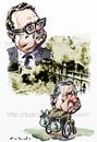 Cartoon: Allende and Pinochet (small) by Bob Row tagged allende,pinochet,chile,imperialism,cia,kissinger,neoliberalism
