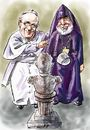 Cartoon: Francis-Karekin (small) by Bob Row tagged francias karekin turkey armenian genocide