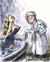 Cartoon: Pope Francis goes to Rome (small) by Bob Row tagged bergoglio,ekberg,francis,francisco,franziskus,rome,vatican,religion,christianity,catholicism