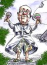Cartoon: Pope Francis in Rio (small) by Bob Row tagged pope francis rio brasil church religion catholic
