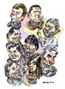 Cartoon: Presidentes sudamericanos (small) by Bob Row tagged politics,southamerica