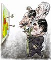 Cartoon: Videla-Massera-Galtieri (small) by Bob Row tagged argentina,military,junta,dictatorship