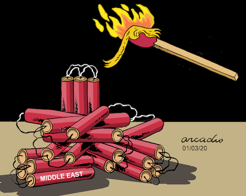 Cartoon: Spark over Dynamite (medium) by Cartoonarcadio tagged trump,trade,war,washington,white,house
