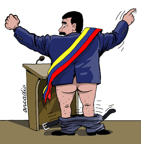 Cartoon: The power of Maduro (medium) by Cartoonarcadio tagged maduro,latin,america,communism,venezuela