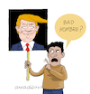 Cartoon: Bad hombre. (small) by Cartoonarcadio tagged trump,us,president,usa,america,politicians