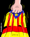 Cartoon: Dark forces. (small) by Cartoonarcadio tagged catalonia,spain,europe,idependence,rajoy,socialists