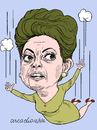 Cartoon: Dilma Rouseff (small) by Cartoonarcadio tagged dilma,brazil,corruption,south,america,justice