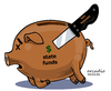 Cartoon: Economic terrorism. (small) by Cartoonarcadio tagged terror,economy,corruption,money,banks,panama,politicians