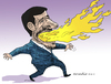 Cartoon: Flamming Ahmadinejad (small) by Cartoonarcadio tagged ahmadinejad,iran,fire,nuclear,asia,middle,east