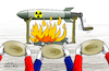Cartoon: Hungry of weapons in cold war. (small) by Cartoonarcadio tagged weapons,cold,war,usa,russia,china