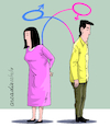 Cartoon: Ideology of genero. (small) by Cartoonarcadio tagged human,being,woman,rights,homosexuals,gays,lesbianism