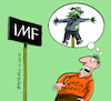 Cartoon: IMF scares Latin America (small) by Cartoonarcadio tagged imf,economy,latin,america,finances,leftist,movements