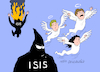 Cartoon: IS to the hell. (small) by Cartoonarcadio tagged is,terror,spain,barcelona