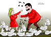 Cartoon: Maduro dances over the humanitar (small) by Cartoonarcadio tagged maduro,venezuela,latin,america