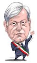 Cartoon: Manuel Lopez Obrador of Mexico. (small) by Cartoonarcadio tagged obrador,mexico,president,politician
