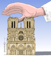 Cartoon: Paris sadness. (small) by Cartoonarcadio tagged notre,same,paris,france,europe,catholicism